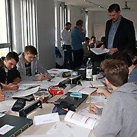 IT-Leistungskurs bei einem Netzwerkworkshop im BKZ CS